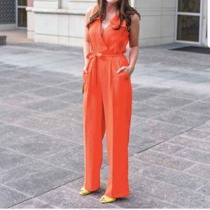Banana Republic Orange Jumpsuit